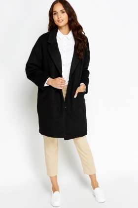 Black Boyfriend Coat - Just £5