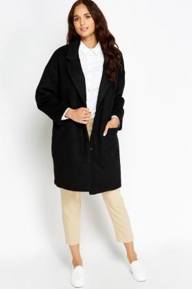 Black Boyfriend Coat - Just £5