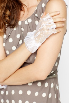 Metallic Lace Fingerless Gloves