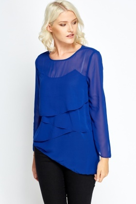 Layered Asymmetric Blouse