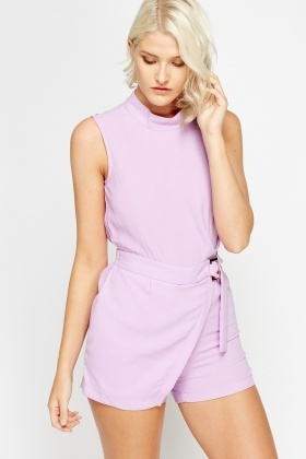 High Neck Skort Playsuit