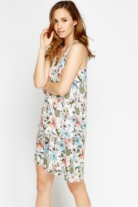 Layered Floral Dress