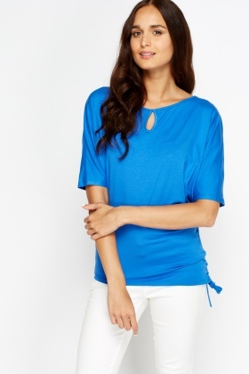 Drawstring Side Batwing Top