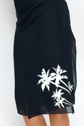Pack Of 2 Palm Tree Printed Beach Cover Up
