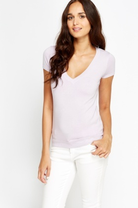 Ribbed Trim Top