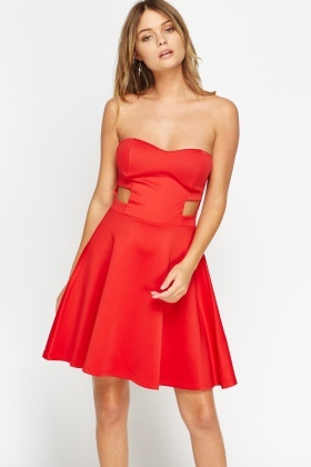 Sweetheart Cut Out Bandeau Dress