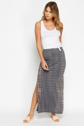 Slit Side printed Maxi Skirt - Just £5