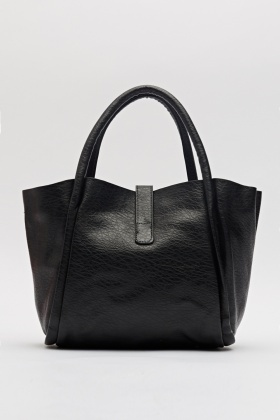Faux Leather Winged Handbag