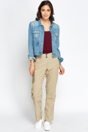 Contrast Side Pocket Trousers