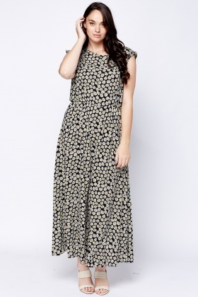 Daisy Flower Maxi Dress