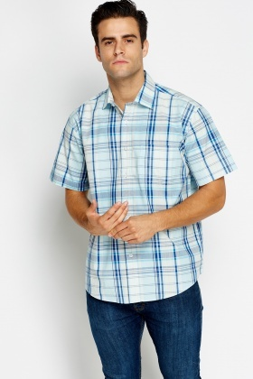 Multi Check Pocket Front Shirt