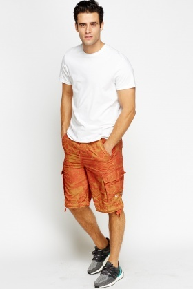 Rust Printed Shorts