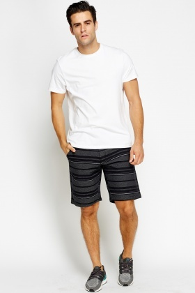 Stripe Cotton Shorts