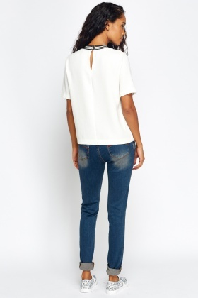 Washed Out Slim Denim Jeans