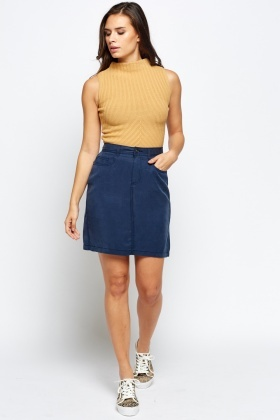 Navy Casual Skirt