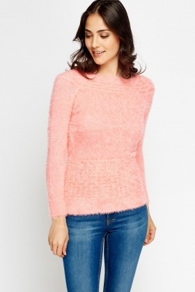 Coral Overlay Jumper