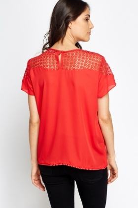 Mesh Shoulder T-Shirt