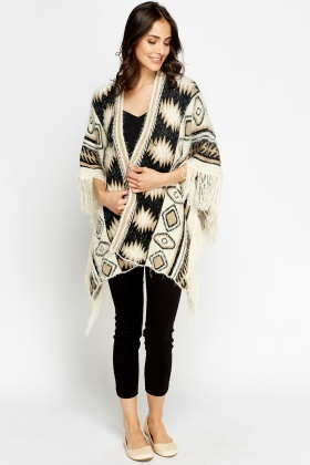 Tassel Eyelash Knit Cardigan
