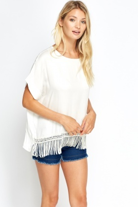 Tassel Hem Box Casual Top