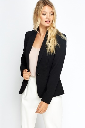 Textured Fitted Blazer