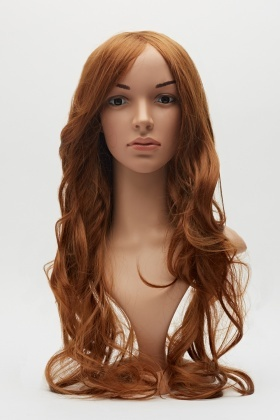 Chestnut Layered Curled Wig