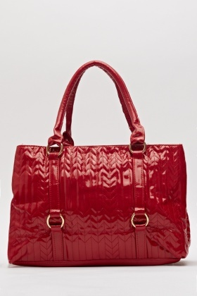 High Shine PU Quilted Handbag