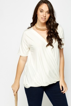 Wrap Front Long Top