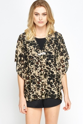 Leopard Print Shell Top