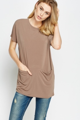 Pocket Side Box Casual Top