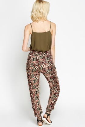 Paisley Printed Casual Trousers