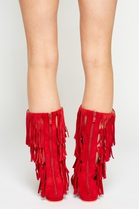 Tassel Knee High Sandals