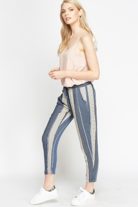 Blue Striped Lightweight Trousers