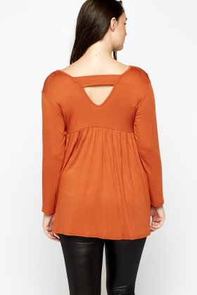 Flared Hem Casual Top