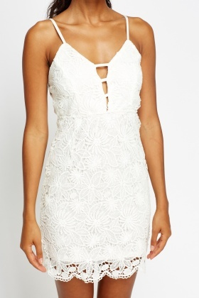 Floral Mesh Mini Bodycon Dress