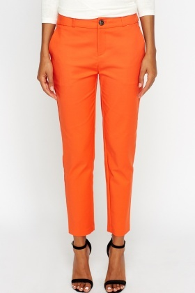 Orange Straight Leg Trousers