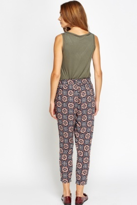 Kaleidoscope Print Light Trousers