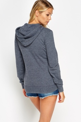 Hooded Zipped Jumper