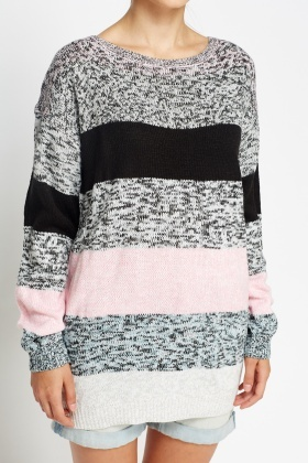 Colour Block Stripe Jumper