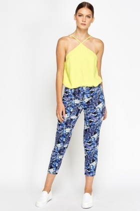 Wild Leaves Cropped Trousers