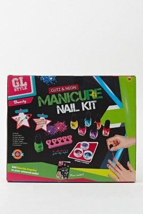 Glitz And Neon Beauty Manicure Nail Kit