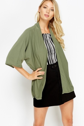 Open Front Cardigan Top