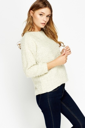 Bobble Knit Cropped Jumper