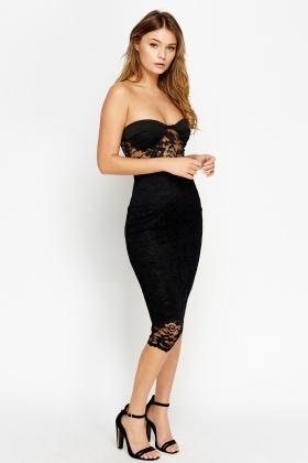 926c77e218f4 Lace Bandeau Midi Dress - Just £5