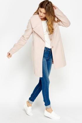 Light Pink Lapel Coat Just £5