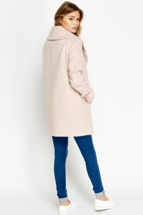 Light Pink Large Lapel Coat - Just £5