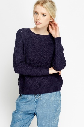 Ribbed Cable Knit Jumper