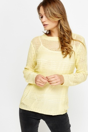 Loose Knit Ribbed Long Jumper