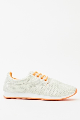 Lurex Contrast Low Top Trainer