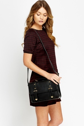 Tartan Front Pocket Dress
