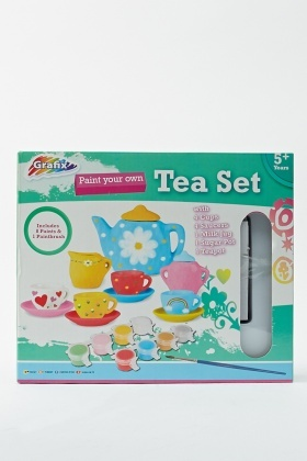 Kids Set Paint Your Own Tea Set